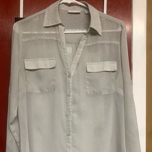 New York & Company Button Down Blouse (Large)